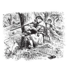 Virginia mountaineers in colonial times vintage vector