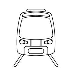 High speed train passenger rail road outline vector