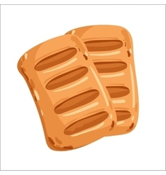 Puff pastry isolated cartoon vector
