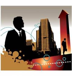 Business landscape vector