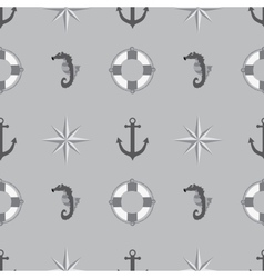 Seamless texture The maritime theme vector image