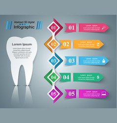 Business infographics tooth icon vector