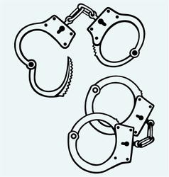 Handcuffs silhouettes vector