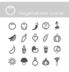 Icons set vegetables vector image