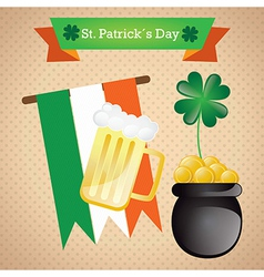 St Patricks Day elements on vintage background vector image