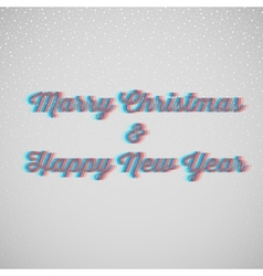 Marry christmas and happy new year vector