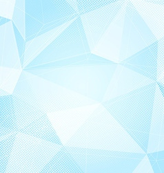 Blue abstract crystal structure dotted hi-tech vector