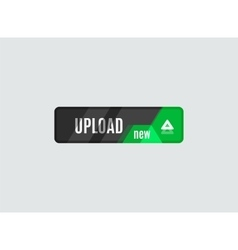 Upload button futuristic hi-tech ui design vector
