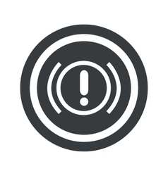 Round black alert sign vector