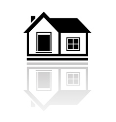 Isolated house with reflection vector