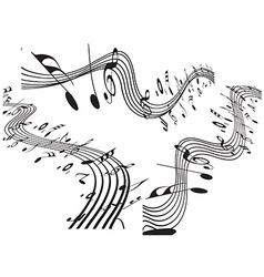 Music notes design set vector