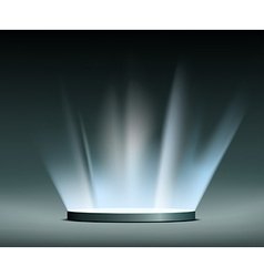 Rays of light hologram vector