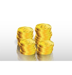 Stack of gold coin background vector
