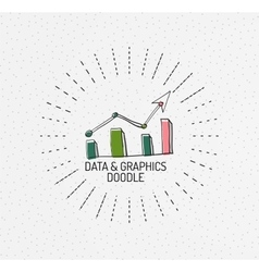 multicolored hand-drawn doodles icon vector image