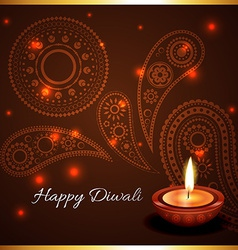 Artistic background of diwali diya vector