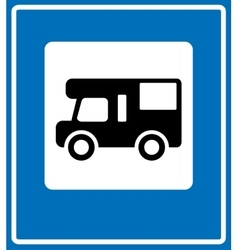 Blue camp sign vector
