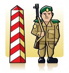border guard vector image