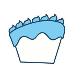 Cake delicious dessert vector