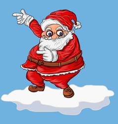 cartoon santa on snow vector image
