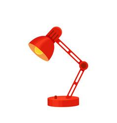 desk lamp set modern cartoon colorful vector image