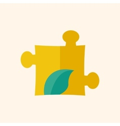 Eco Puzzle Flat Icon vector image vector image