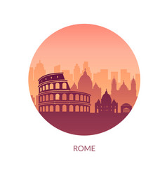 Famous city scape in color vector