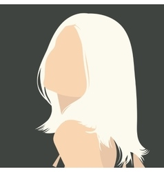 gray portrait vector image