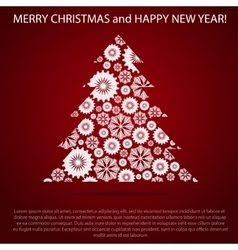 Greeting Christmas and New Year Post card vector image