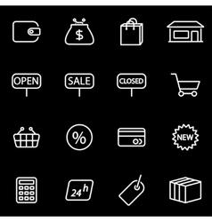 line shop icon set vector image vector image