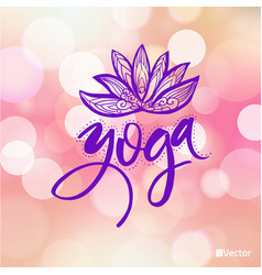 Logo for yoga studio or meditation class spa logo vector