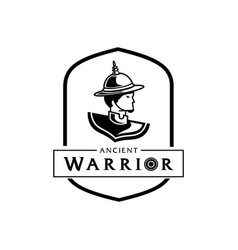 Lord of thai ancient warrior logo vector
