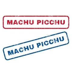 Machu picchu rubber stamps vector
