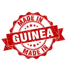 Made in guinea round seal vector
