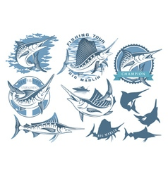 marlin fishing vector image vector image