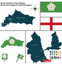 North yorkshire north east england vector