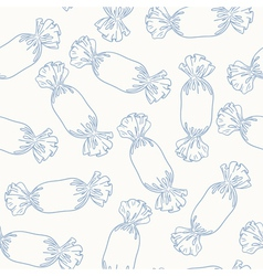 Outline candies seamless pattern vector