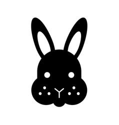 Rabbit head isolated icon vector
