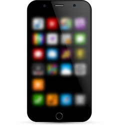 Realistic smartphone concept vector