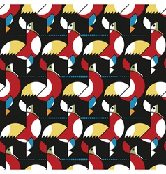 roosters pattern vector image