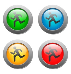 Running man icon on buttons vector image