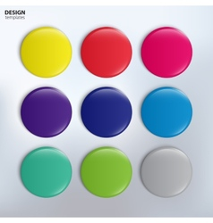 set of colorful glossy badges vector image