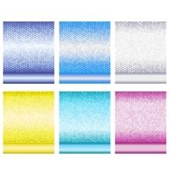 Set of luxury metallic shiny backgrounds vector
