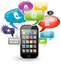 Smartphone app design vector image vector image