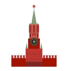 Spasskaya tower icon vector image