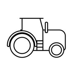 Thin line tractor icon vector