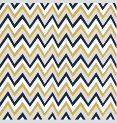 trendy golden white and navy blue chevron pattern vector image vector image