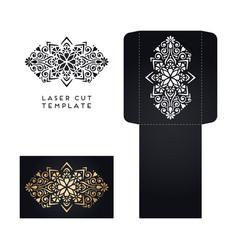 wedding card laser cut template vector image vector image
