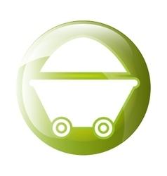 wheelbarrow icon symbol design vector image vector image