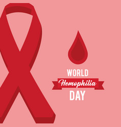 World hemophilia day celebration medical vector