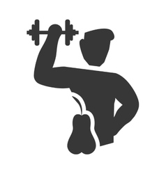 Weight lifting healthy lifestyle design vector